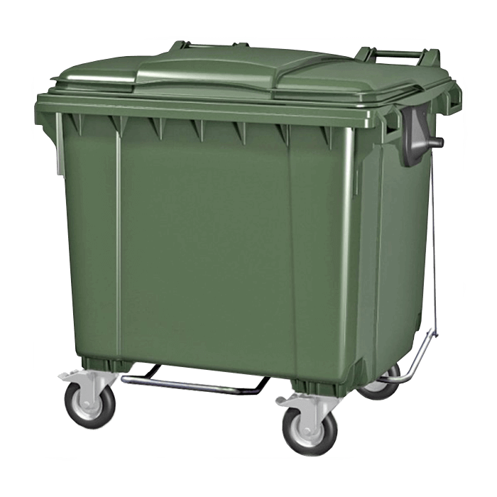 мусорный контейнер 1100 литров с педалью