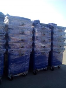Мусорные контейнеры 1100 л. Синие