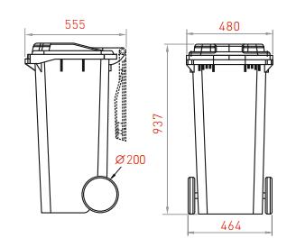 контейнер 120 литров схема